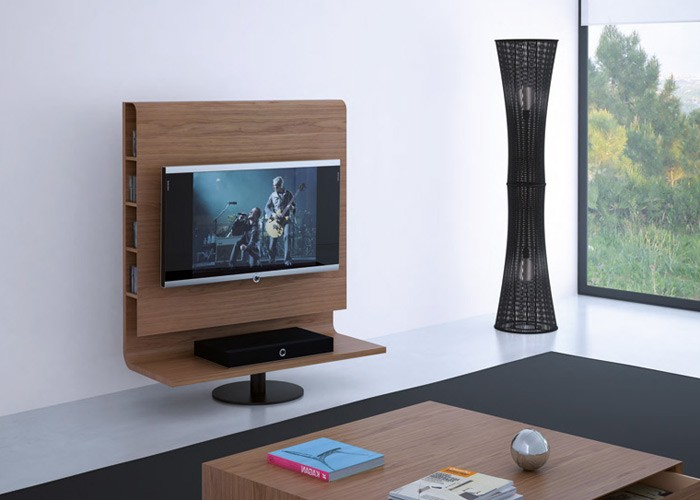 tv rack drehbar holz. Black Bedroom Furniture Sets. Home Design Ideas